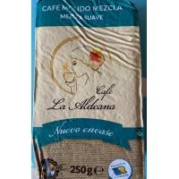 Cafe la Aldeana - Cafe Molido Mezcla Suave 50% Natural 50% Torrefacto Röstkaffee gemahlen 250g Päckchen produziert auf Gran Canaria
