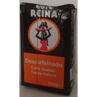 Cafe Reina - Tueste Natural Descafeinado Röstkaffee gemahlen entkoffeiniert 250g produziert auf Teneriffa