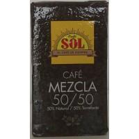 Café Sol - Mezcla molido 50% Natural / 50% Torrefacto Röstkaffee gemahlen gemischt 250g Karton produziert auf Gran Canaria