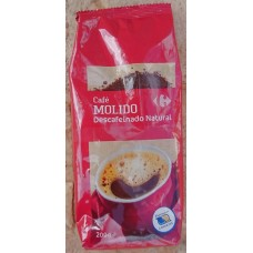 Carrefour | Cafe Molido Natural Descafeinado Röstkaffee gemahlen entkoffeiniert 200g Tüte (Gran Canaria)