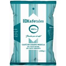 DKafetales - Cafe en Grano Mezcla 50% Tueste natural 50% Tueste Torrefacto gerösteter Bohnenkaffee 1kg produziert auf Gran Canaria