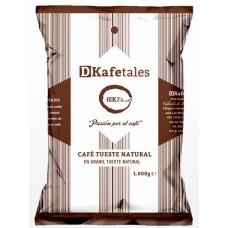 DKafetales - Cafe en Grano Tueste Natural gerösteter Bohnenkaffee 1kg produziert auf Gran Canaria
