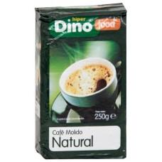 DinoFood - Cafe Molido De Tueste Natural Röstkaffee gemahlen 250g produziert auf Gran Canaria