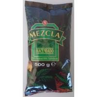 Hacendado - Cafe Molido Mezcla 50% Natural 50% Torrefacto Nr. 5 Kaffee gemahlen 500g Tüte produziert auf Teneriffa