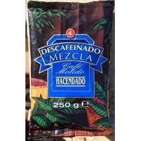 Hacendado - Cafe Molido descafeinado mezcla Nr. 4 Röstkaffee gemahlen entkoffeiniert 250g Tüte produziert auf Teneriffa