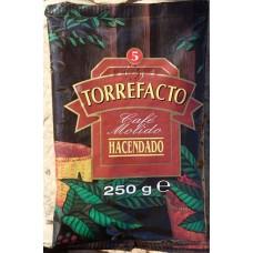 Hacendado - Cafe Molido Torrefacto Nr. 5 Röstkaffee gemahlen 250g Tüte produziert auf Teneriffa