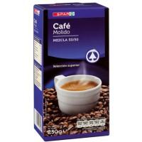 Spar - Cafe Molido Mezcla 50/50 Röstkaffee gemahlen 250g produziert auf Teneriffa