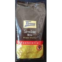 Tirma - Café en Grano Mezcla 60% natural 40% torrefacto Hosteleria Kaffee - ganze Bohne Gastropackung 1kg produziert auf Gran Canaria