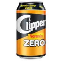 Clipper - Naranja Zero Orange Limonade zuckerfrei 330ml Dose produziert auf Gran Canaria