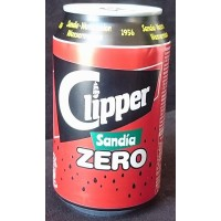 Clipper - Sandia Zero Wassermelonen-Limonade zuckerfrei 330ml Dose produziert auf Gran Canaria