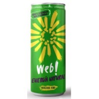 Web! - Energia Natural Manzana-Kiwi Guarana Ginseng Energy Drink 250ml Dose produziert auf Gran Canaria