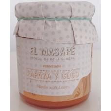 El Masapè - Mermelada Papaya y Coco 68% Fruta Papaya-Kokos-Marmelade 290g produziert auf La Gomera