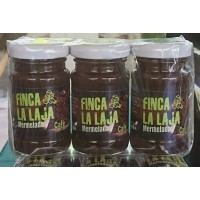 Finca La Laja - Mermelada de Cafe y Manzana Kaffee-Marmelade auf Apfelbasis 3x 100g Glas produziert auf Gran Canaria
