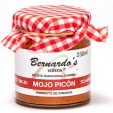 Bernardo's Mermeladas - Mojo Canario Picón rote scharfe Mojosauce 250ml produziert auf Lanzarote