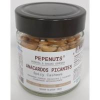 Pepeoil - Pepenuts Anacardos Picantes gewürzte Akajounüsse 125g Glas produziert auf Gran Canaria