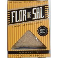 Salinas de Fuencaliente - Flor de Sal Lemon & Pepper kanarisches Aroma-Meersalz Zitrone & Pfeffer 120g produziert auf La Palma