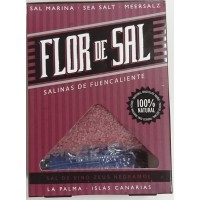 Salinas de Fuencaliente - Flor de Sal Vino Zeus Negramoll kanarisches Aroma-Meersalz Rotwein 120g produziert auf La Palma