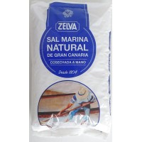 Zelva - Sal Marina Natural de Gran Canaria Meersalz 750g Tüte produziert auf Gran Canaria