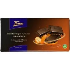 Tirma - Chocolate Negro 70% Cacao con Naranja dunkle Tafelschokolade mit Orange 125g produziert auf Gran Canaria