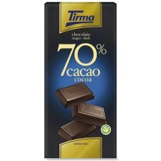 Tirma - Chocolate Negro 70% Cacao dunkle Schokolade 125g produziert auf Gran Canaria