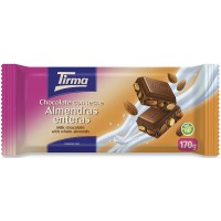 Tirma - Chocolate con Leche Almendras enteras Nussschokolade 170g produziert auf Gran Canaria