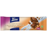 Tirma - Chocolate con Leche Almendras enteras Nussschokolade 300g produziert auf Gran Canaria