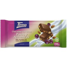 Tirma - Chocolate con Leche Pasas y Almendras Milchschokolade mit Rosinen und Mandeln 170g produziert auf Gran Canaria
