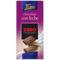 Tirma - Chocolate con Leche ZERO sin azucar Vollmilchschokolade zuckerfrei 125g Tafel produziert auf Gran Canaria