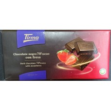 Tirma - Chocolate Negro 70% Cacao con Fresa dunkle Tafelschokolade mit Erdbeeren 125g produziert auf Gran Canaria