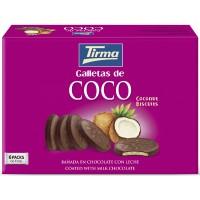 Tirma - Galletas de Coco Schokoladenkeks mit Kokosfüllung 6x4x8,33g 200g produziert auf Gran Canaria