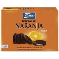 Tirma - Galletas de Naranja 70% Chocolate Negro Bitterschokolade mit Orangengeleefüllung 6x4x8,33g 200g produziert auf Gran Canaria