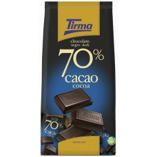 Tirma - Chocolate Negro 70% Cacao Minis dunkle Schokolade 14x 15g 210g Tüte produziert auf Gran Canaria