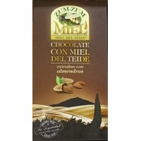 Zum-Zum Miel - Chocolate con Miel de Teide con Almendras Honig-Mandel-Schokolade 150g Tafel produziert auf Teneriffa