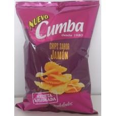 Cumba - Chips Sabor Jamon Onduladas Kartoffelchips geriffelt Schinkenaroma 150g produziert auf Gran Canaria