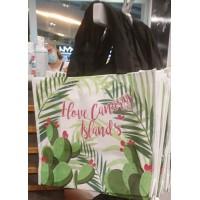 Strandtasche Einkaufstasche I Love Canary Islands Catus Kaktus-Motive