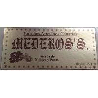 Mederos's - Turron de Nueces y Pasas Nougatriegel mit Nüsse und Rosinen 300g produziert auf Gran Canaria