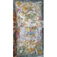 Tirma - Cristal Caramelos Candy 200 Bonbons mit Fruchtgeschmack 1,25kg Tüte produziert auf Gran Canaria