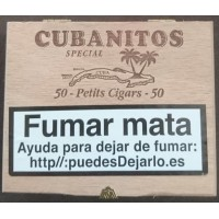 Cubanitos - Special 50 Petits Cigars Zigarillos in Holzschatulle produziert auf Teneriffa