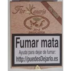 Flor de Canarias - Delicados 25+2 Zigarillos Holzschatulle produziert auf Teneriffa