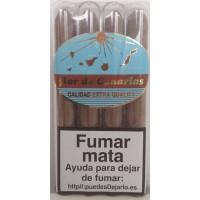 Flor de Canaria - Puros Tubular Calidad Extra Quality 4 Zigarren einzeln in Röhrchen verpackt produziert auf Teneriffa