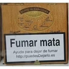 Minis de Canarias - 20 Minis Zigarillos Holzschachtel produziert auf Teneriffa