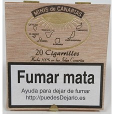 Minis de Canarias - 20 Cigarrillos Zigarillos Holzschachtel produziert auf Teneriffa