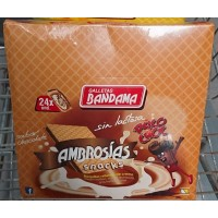 Bandama - Ambrosias Snacks Psico Choc Sabor Chocolate Waffeln mit Schokocreme 24x28g 672g produziert auf Gran Canaria
