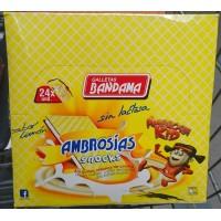Bandama - Ambrosias Snacks Sabor Limon Waffeln mit Zitronencreme 24x 28g 672g produziert auf Gran Canaria