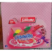 Bandama - Cubanitos Snacks Barquillo Relleno sin lactosa Waffeln mit Cremefüllung laktosefrei 24x 28g 672g produziert auf Gran Canaria