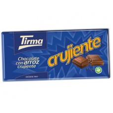 Tirma - Crujiente Choco con Arroz Tafel Vollmilchschokolade mit Reis 125g produziert auf Gran Canaria