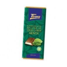 Tirma - Chocolate Relleno Crema Sabor de Menta Pfefferminz-Vollmilchschokolade 98g produziert auf Gran Canaria