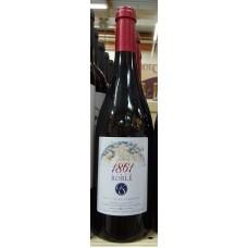 1861 Vino Tinto Roble Rotwein trocken Eichenholzfass 13,5% Vol. 750ml produziert auf Teneriffa