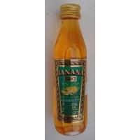 Arehucas - Banana Canafruit Liquer Bananenlikör 20% Vol. 50ml PET-Miniaturflasche produziert auf Gran Canaria