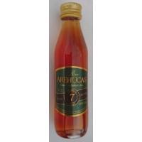 Arehucas - Ron Arehucas 7 anos 40% Vol. 50ml PET-Miniaturflasche produziert auf Gran Canaria